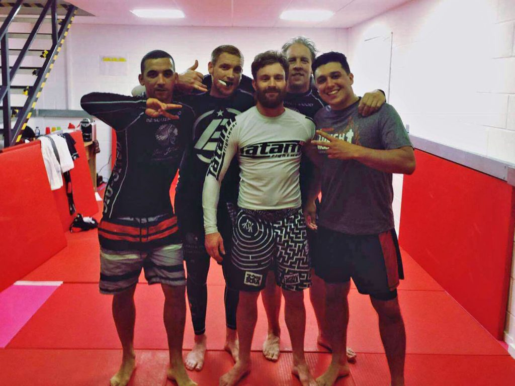 No Gi Adults at the end of the submission grappling lesson