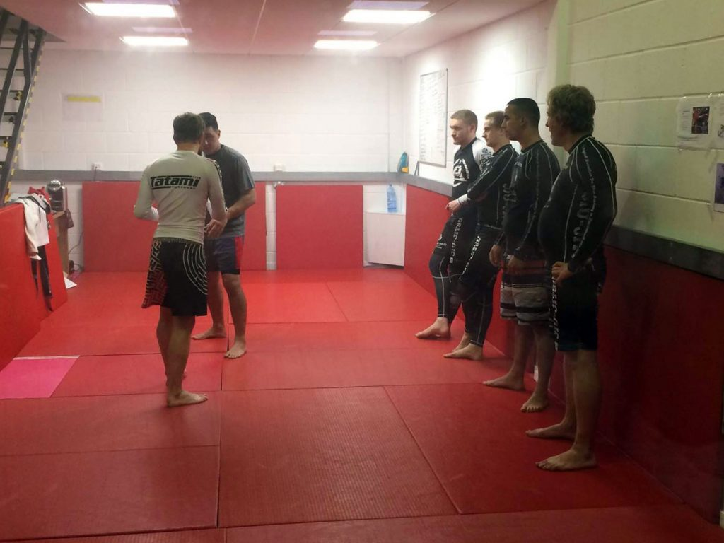 Adults learning no-gi submission grappling in Ferndown, Dorset